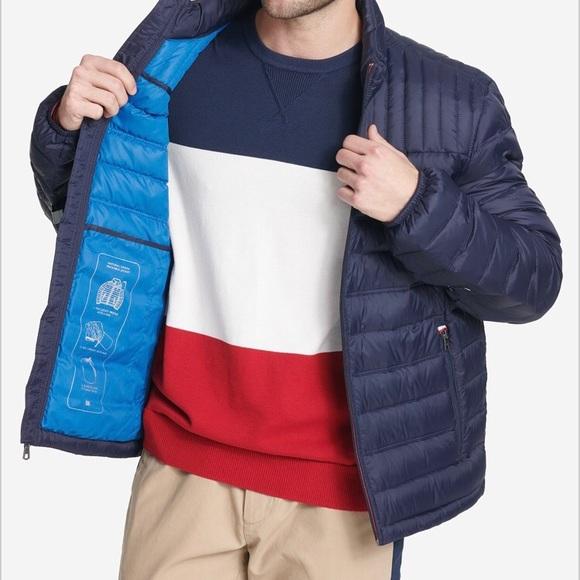761f13af035 Men's Down Quilted Packable Logo Jacket NWT